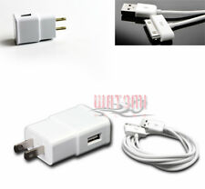 100 2A TRAVEL ADAPTER+6FT USB CABLE CHARGER DATA WHITE GALAXY TAB 7.7 8.9 10.1