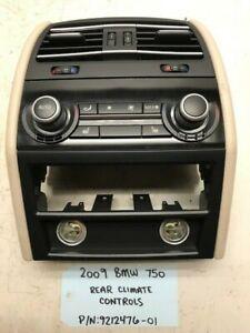 09-15 BMW 750 F01 F02 F07 REAR SEAT HEATER AC A/C CLIMATE CONTROL PANEL