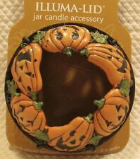 YANKEE CANDLE Illuma Lid Topper Candle Halloween Jack-O-Lanterns Pumpkins - NEW!