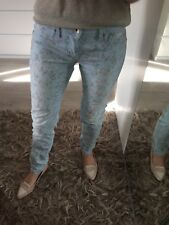 Gas W27 L30 Uk8-10 Jeans Stretch Jeggings Slim Skinny Fitted Floral £59 Ankle