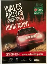 Welsh Rally Poster Rare Wales GB 2007.