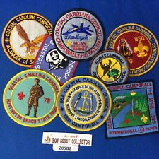 Boy Scout 8 Coastal Carolina Patches Blue Angels, Naval Wepons Station, MixedLot