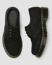 Dr Doc Martens Black Glitter Ray Embossed Leather 3-Eye Oxford Shoes Wm's 8 NWOT
