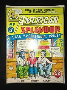 American Splendor #1 - 7.0 FN/VF Fine/Very Fine - 1976 R. Harvey Pekar R. Crumb
