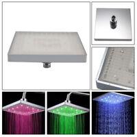 "High Quality Chrome 8"" LED Colour Changing Shower Head 12"" Square Bathroom Ace"