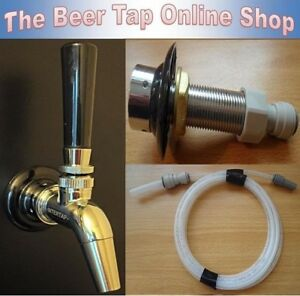 Beer Tap SS Intertap Faucet & Shank + Beer Line. Kegerator/Keezer Conversion Kit
