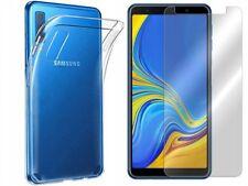 Handy Hülle Case ULTRA SLIM Transparent + GLAS Folie 9H Samsung Galaxy A7 2018
