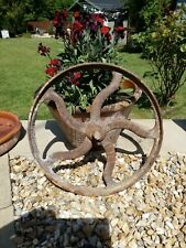 Antique Cast Iron Wheel...stamped With Makers/family Name ?  Treharne