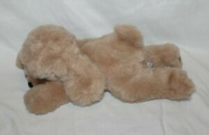 "Russ Berrie DOOZER Puppy Dog 16"" Tan Golden Retriever Laying Plush Vtg #7543 HTF"