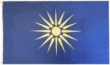 Greek Macedonia Premium Quality Heavy Duty 100D Woven Poly Nylon 3x5 Flag