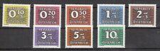 1985/86 Porto Neue Nachportomarken Ziffernzeichnung Postfrisch ** MNH 260 - 267