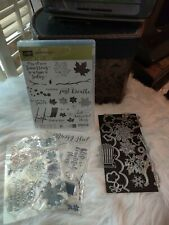 Stampin Up Colorful Seasons Stamps And Dies Bundle Christmas, Snowflakes Beach,