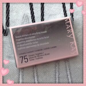 New In Package Mary Kay Beauty Blotters Oil Absorbing Tissues 75 Sheets
