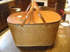 Vintage Redmon picnic basket Peru Ind