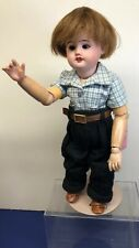 "12.5"" Antique Doll Brown Sleepeye SFBJ Bisque 60 6/0 French Made In Paris Boy #S"