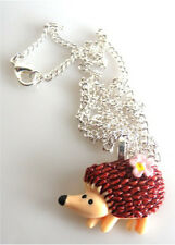 GORGEOUS HANDMADE HEDGEHOG NECKLACE + FREE GIFT BAG + FAST FREE P&P