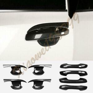 ABS Black Carbon fiber Car door handle bowl trim Kit 8PCS For Kia Sorento 2021