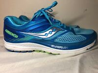 WOMENS SAUCONY EVERUN GUIDE 10 BLUE RUNNING SHOES SIZE 9.5 - New Insoles