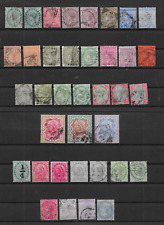 More details for india - qv 1882/1900 portrait definitives - complete to 5r & shades - mh & vfu