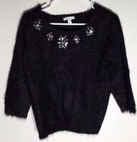 New York & Company Womens Gemstone Sweater Black – Size Medium NWT