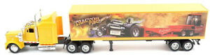 NEW15333 - Truck Kenworth W900 Of Color Yellow And Trailer 2 Axles Ornament