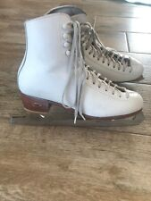 Riedell Ice Skate Boots 220 Size 7 M John Wilson Excel Blades 10 1/4