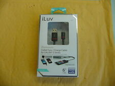 ICB360BLK iluv Micro USB Charge/Sync Coiled Cable A  Black, 6ft