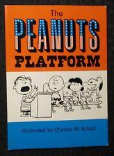 1968 THE PEANUTS PLATFORM by Charles M. Schulz VF- 7.5 Hallmark Paperback
