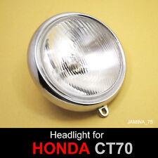 """Honda CT70 Mini Trail 70 DAX 91 92 93 94 6"""" Headlight Head Lamp 12 V. Bulb + Rim"""