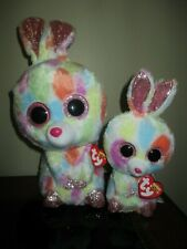 "Ty Beanie Boo Lot Of 2 Bloomy Medium 10"" & Bloomy 6"" Hang Tags Attached"