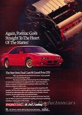 1991 Pontiac Grand Prix GTP - Original Advertisement Print Art Car Ad J798