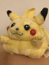 Vintage Rare Pikachu 90's Mini Backpack Pokémon Plush EUC!  Pokemon