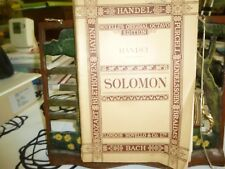 Music. Novello's Original Octavo. Solomon