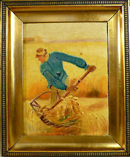 UNSIGNED! FARMER HARVESTING. NO RESERVE