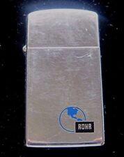 1964 SLIM ZIPPO ROHR INC Vintage lighter BART transportation FREE SHIPPING RARE