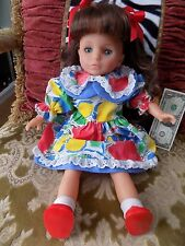 """19"""" LISSI PUPPE # 126 BROWN HAIR BLUE EYES DOLL GIRL 3+ ORIGINAL CLOTHES"""