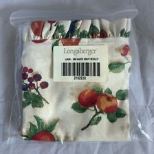 Longaberger Fruit Medley Fabric Liner For Small Waste Basket Fall 2182230