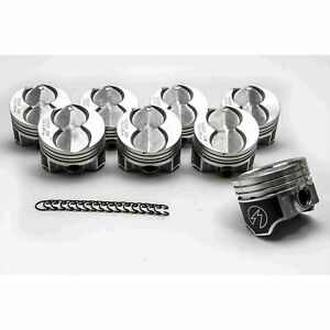 Ford 351W/5.8 Speed Pro Hypereutectic Coated Skirt Flat Top Pistons Set/8 +060
