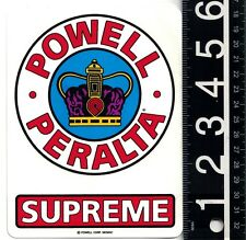 POWELL PERALTA SKATEBOARDS STICKER Bones 4.6 in x 6 in Supreme Decal