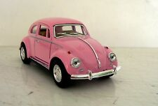 1967 VW Pink Classic Volkswagon VW Beetle Diecast Car Scale 1:32