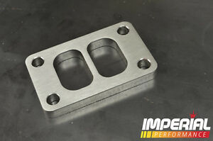 T3 TWIN SCROLL turbo flange / spacer - 12mm STEEL - DIVIDED