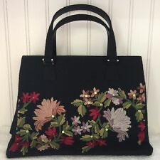 Vintage Isabella Fiore Floral Embroidered Sequined Purse
