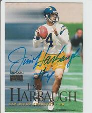 Jim Harbaugh AUTOGRAPH FLEER FOOTBALL CARD SIGNED