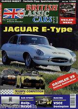 British Classic Cars 1 05 2005 Jaguar E-Typ 4.2  Speichenräder TR4 Silver Shadow