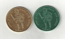 1968 JOHN McDONOGH HIGH SCHOOL TROJANS NEW ORLEANS FOOTBALL SCHEDULE COINS TOKEN