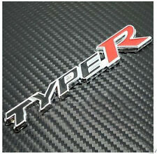 Honda Type R Chrome Badge. Self Adhesive. Civic, Accord, Prelude, Integra TypeR