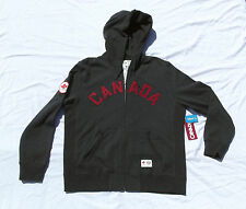 London 2012 Olympic Team Canada HBC Gray CANADA Hoodie Mens Large Full Zip NWT