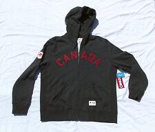 London 2012 Olympic Team Canada HBC Gray CANADA Hoodie Mens Large Full Zip NWT