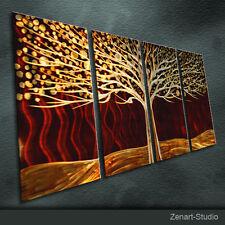 """Metal Wall Art  Painting Sculpture Indoor Outdoor Decor """"Brown Tree"""" By Zenart"""