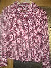 REBAJAS preciosa camisa blusa   talla M 40 42 poliester dibujos geometricos rosa